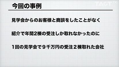 【問題解決研究所】♯1  1回の見学会で9千万円の受注が2棟取れた会社《無料動画》